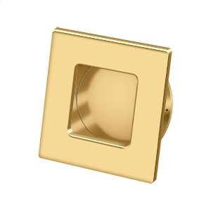 "Flush Pull, Square, HD, 2-3/4""x 2-3/4"", Solid Brass - PVD Polished Brass Product Image"