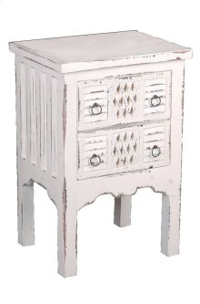 Sunset Trading Cottage Whitewashed End Table - Sunset Trading