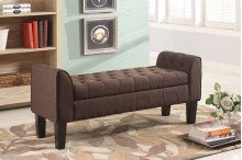 7070 Brown Storage Bench