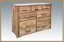 Homestead 9 Drawer Dresser - Stained and Lacquered