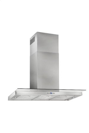 "Dovere - 35-7/16"" Stainless Steel Chimney Range Hood with iQ6 Blower System, 600 CFM"