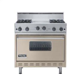 """Taupe 36"""" Open Burner Range - VGIC (36"""" wide, four burners 12"""" wide griddle/simmer plate)"""