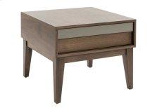 Square Side Table In Walnut Veneer / Legs In Solid Wood Walnut
