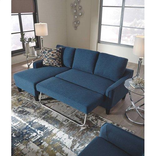 11503271 Jarreau 2PC Blue Sectional Sleeper