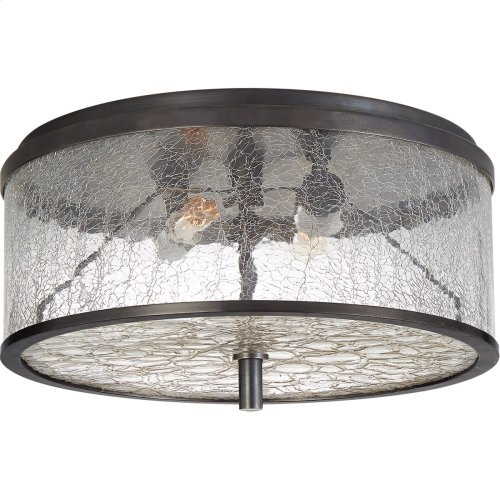 Visual Comfort KW4202BZ-CRG Kelly Wearstler Liaison 2 Light 12 inch Bronze Flush Mount Ceiling Light, Medium