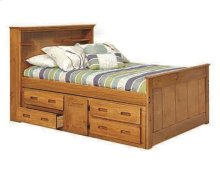 Heartland Full Bookcase Captain's Bed with Storage with options: Honey Pine, Full