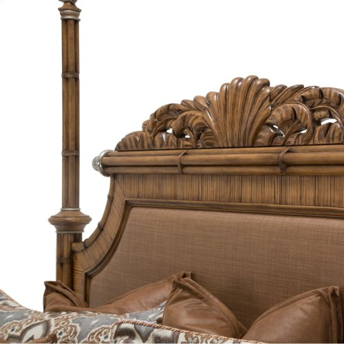 Eastern King Poster Bed W/canopy Kit (5 Pc)