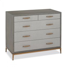 Corinna 5 Drawer Chest - Grey
