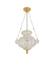 Antique Gold Crystal Chandelier with Louis XVI Canopy