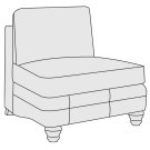 Tarleton Armless Chair in Mocha (751) Product Image