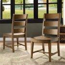 Hawthorne - Wood Seat Side Chair - Barnwood Finish Product Image
