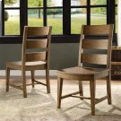 Hawthorne - Wood Seat Side Chair - Barnwood Finish Product Image