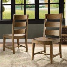 Hawthorne - Wood Seat Side Chair - Barnwood Finish