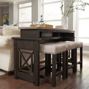 Liberty Furniture Industries  4 Piece Console Set (1-Console 3-Stools)
