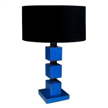 Cubes Lamp Base-lg w/ Shade