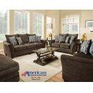 3850 - Athena Brown Sofa Product Image