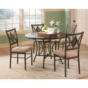"Tacoma Table Base (30""H) & 4pcs Side Chairs, 17"" x 21"" x 38"" Product Image"