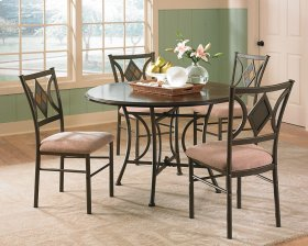 """Tacoma Table Base (30""""H) & 4pcs Side Chairs, 17"""" x 21"""" x 38"""""""