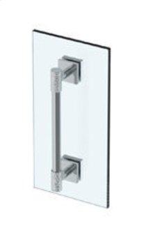"""Sense 18"""" Shower Door Pull / Glass Mount Towel Bar"""