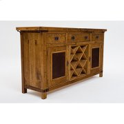 Bungalow - 2 Door 3 Drawer Server With Wine Bottle Holder and Wine Glass Storage Product Image