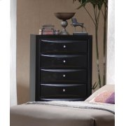 Briana Black Five-drawer Chest Product Image