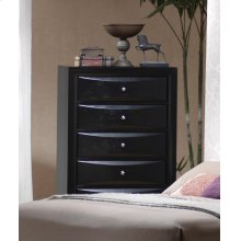 Briana Black Five-drawer Chest