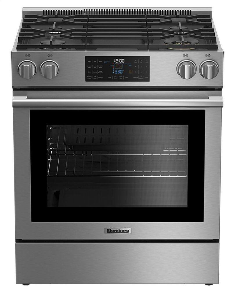 "Blomberg Appliances30"" Gas Stainless Range With 5.7 Cu Ft Self Clean Oven, 4 Burner"