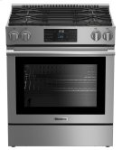 """30"""" gas stainless range with 5.7 cu ft self clean oven, 4 burner Product Image"""