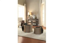2-Piece Storage Ottoman Set, Brown