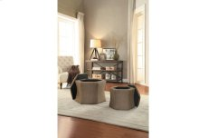2-Piece Storage Ottoman Set, Brown Product Image
