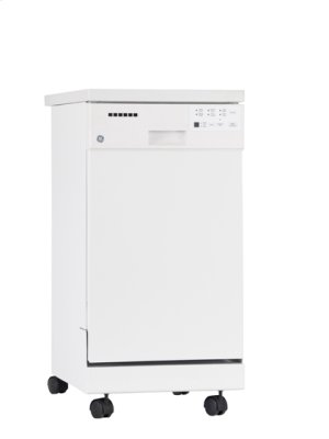 GE Portable Dishwasher with Stainless Steel Short Tub