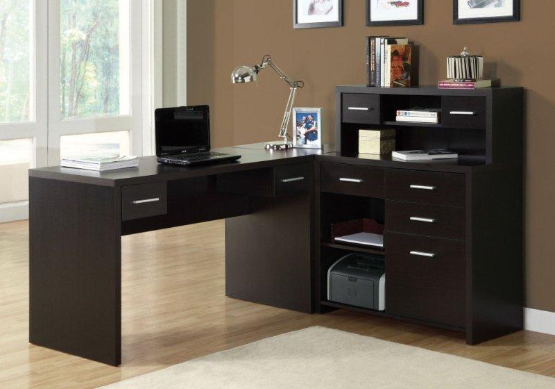 Computer Desk Cappuccino Left Or Right Facing Corner Monarch Specialties