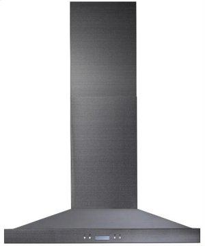 """Notte - 35-7/8"""" Black Stainless Steel Chimney Range Hood, 550 CFM"""