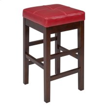 Valencia Backless Leather Counter Stool, Red