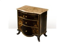 Wuxi Nightstand - Chocolate Chinoiserie