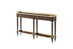Slim Mahogany Console Table