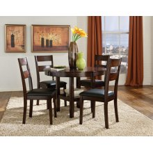 Rd Leg Table, W/4 Chairs
