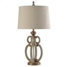 Tuscana Cream  Traditional Table Lamp  150W  3-Way  Hardback Shade