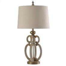 Tuscana Cream  Traditional Table Lamp  150W  3-Way  Hardback Shade