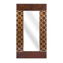 Hill Gold Leaf Geometric Mirror