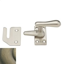 Satin Brass and Black Casement Fastener
