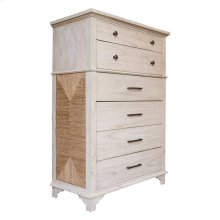 6 Drawer Chest, Available in Coral White Finish Only.