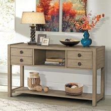 Perspectives - Console Table - Sun-drenched Acacia Finish