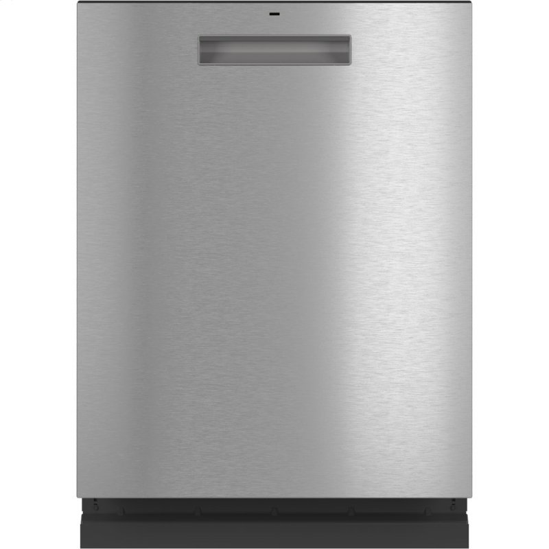 Caf(eback) Stainless Steel Interior Dishwasher with Sanitize and Ultra Wash & Dry in Platinum Glass