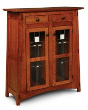 McCoy 2-Door Cabinet with Stained Glass Doors