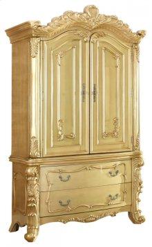 """Zelda Gold Armoire - 57""""L x 24.5""""D x 90""""H"""