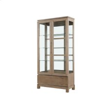 Display Cabinet Weathered Gray Finish
