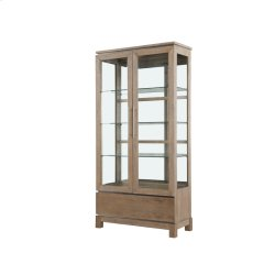 Display Cabinet Weathered Gray Finish Product Image