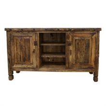 Natural Reclaimed Painted Wood TV Stand