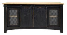 """Stone Brown / Caramel Top 60"""" TV Stand"""